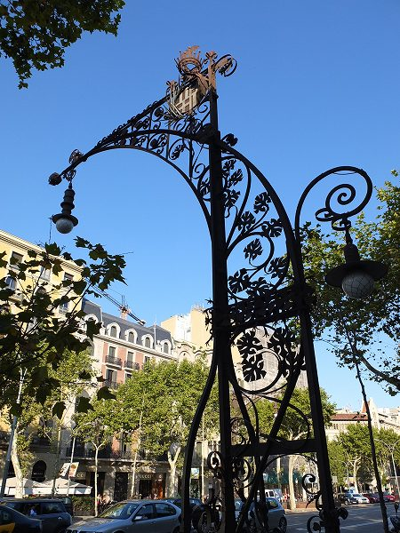 バルセロナの街頭