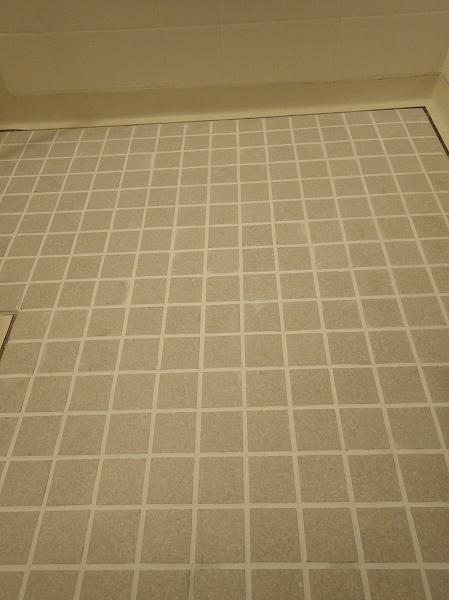 床タイル乾燥後1