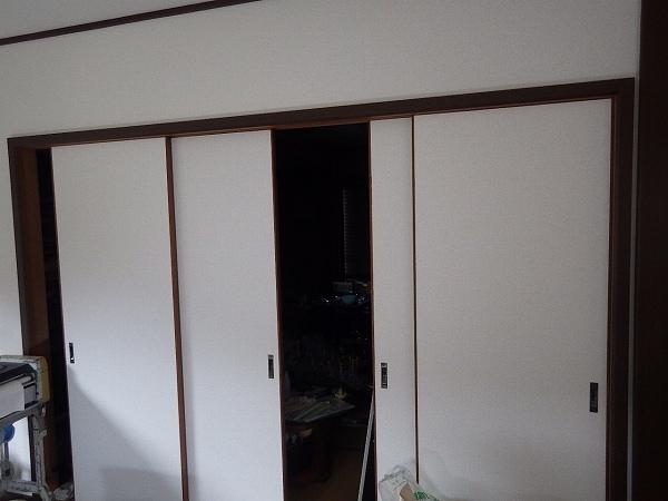 戸襖施工後