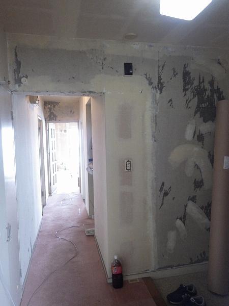施工前玄関